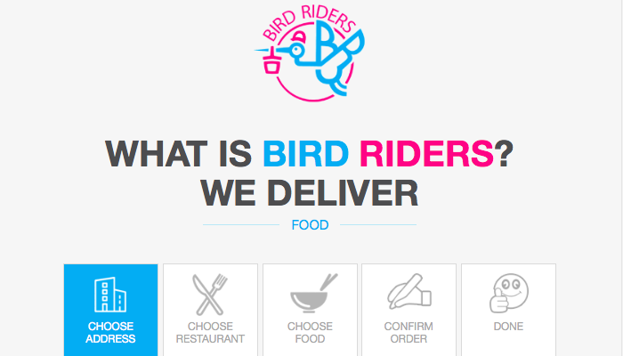 Bird Riders Food Delivery